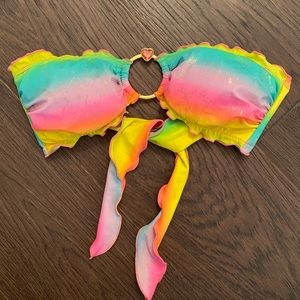 Victoria's Secret rainbow heart bikini